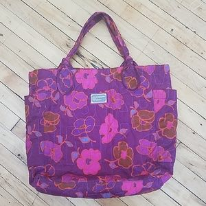Darling Marc Jacob's quilted large floral tote
